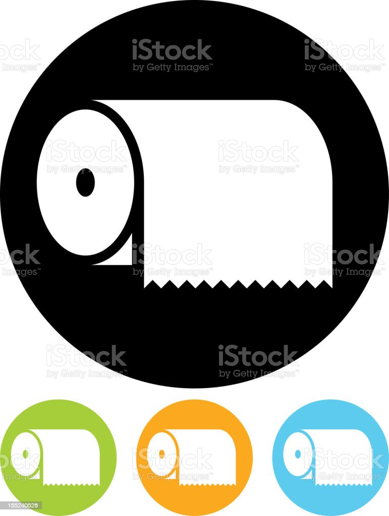 Paper towel vector icon isolated vector art illustration