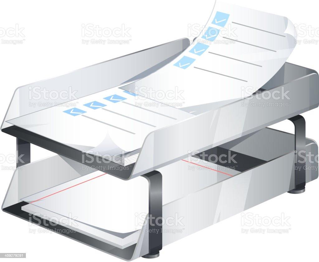 Paper Tray - Illustration vector art illustration