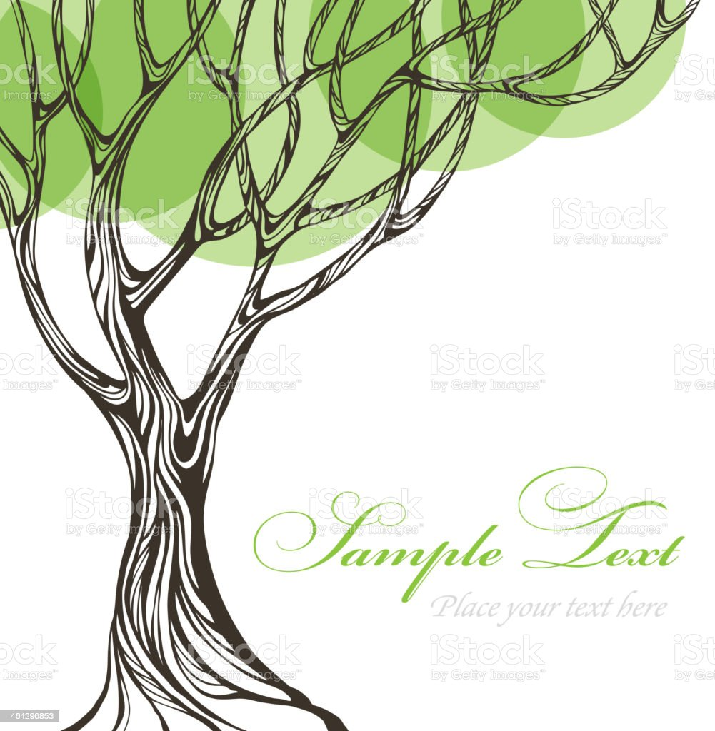 Paper tree. Vector illustration vector art illustration