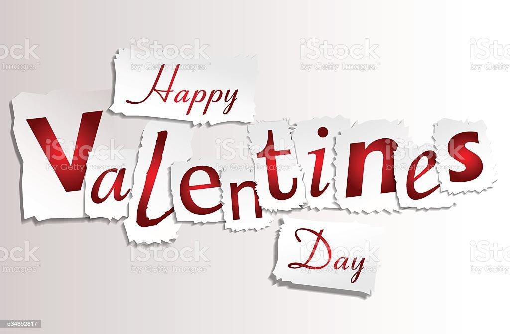 Papier pour la Saint-Valentin stock vecteur libres de droits libre de droits