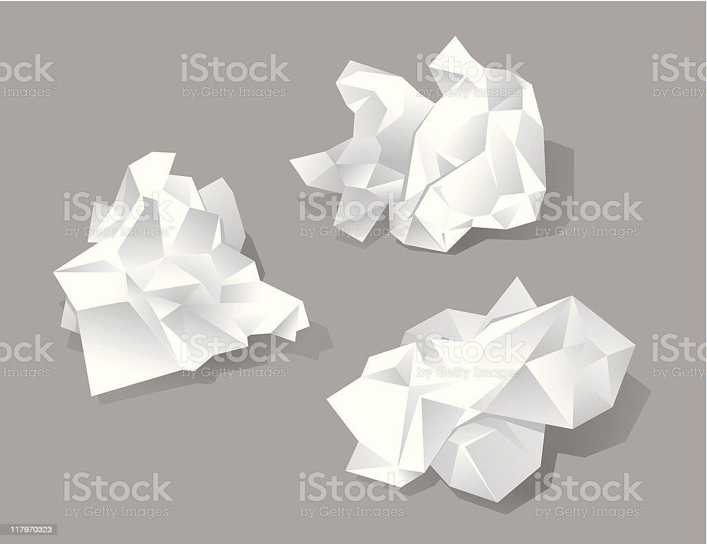 Paper vector art illustration
