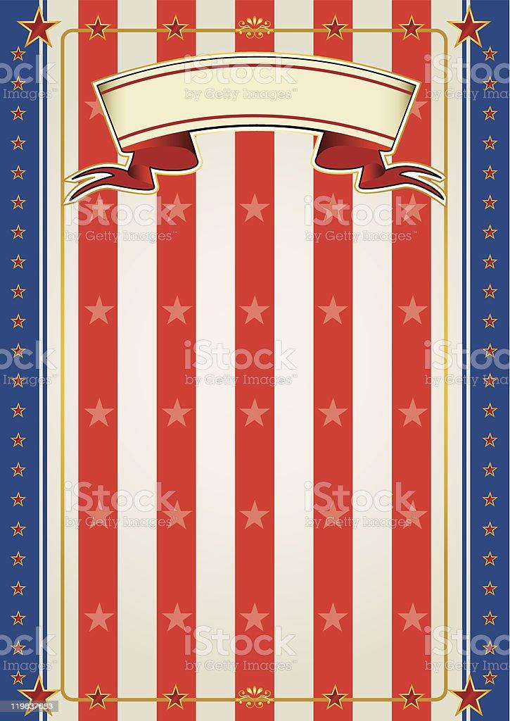 US paper vector art illustration