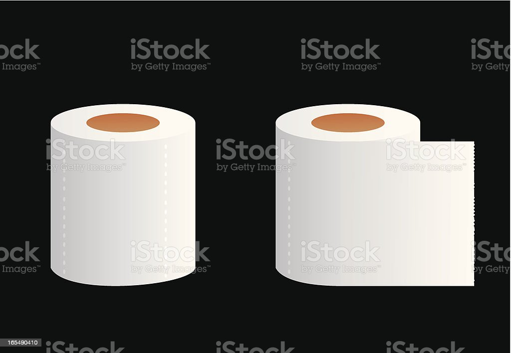 WC paper royalty-free stock vector art