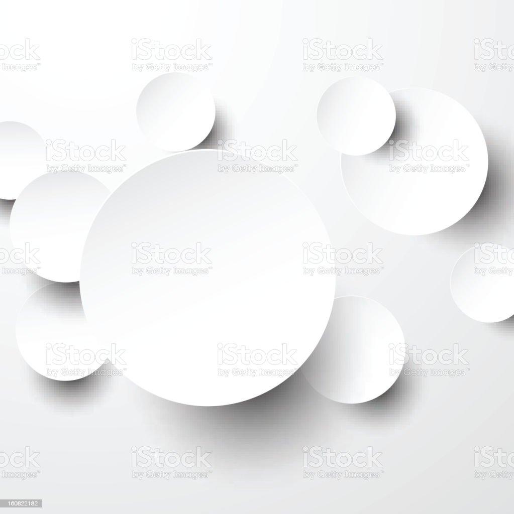 Paper white circles. royalty-free stock vector art