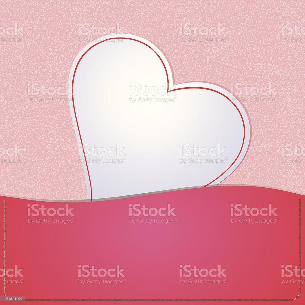 Paper white heart royalty-free stock vector art
