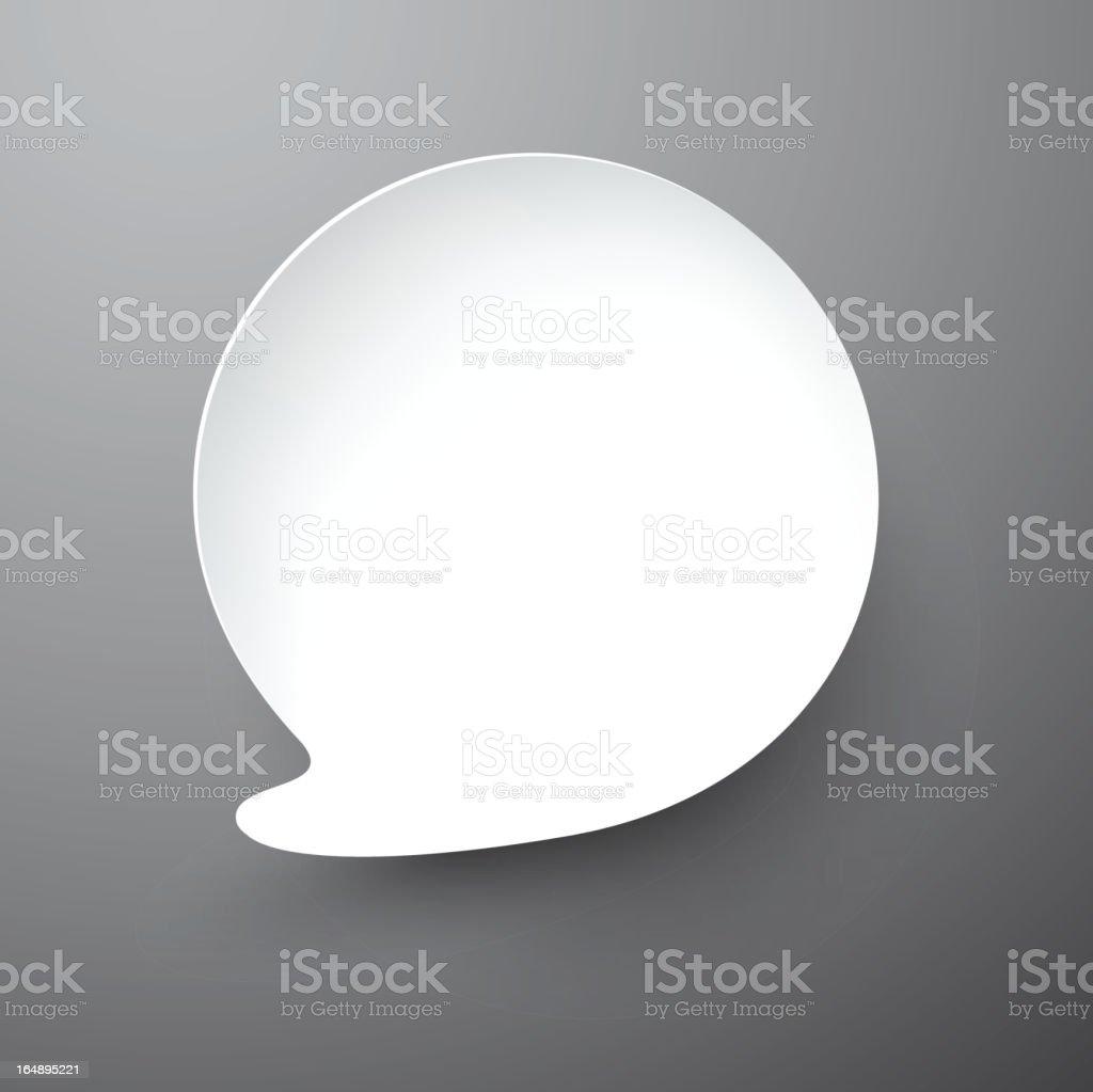 Paper white speech bubble. royalty-free stock vector art