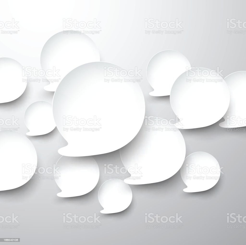 Paper white speech bubbles. royalty-free stock vector art