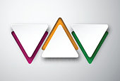Paper white triangular notes.