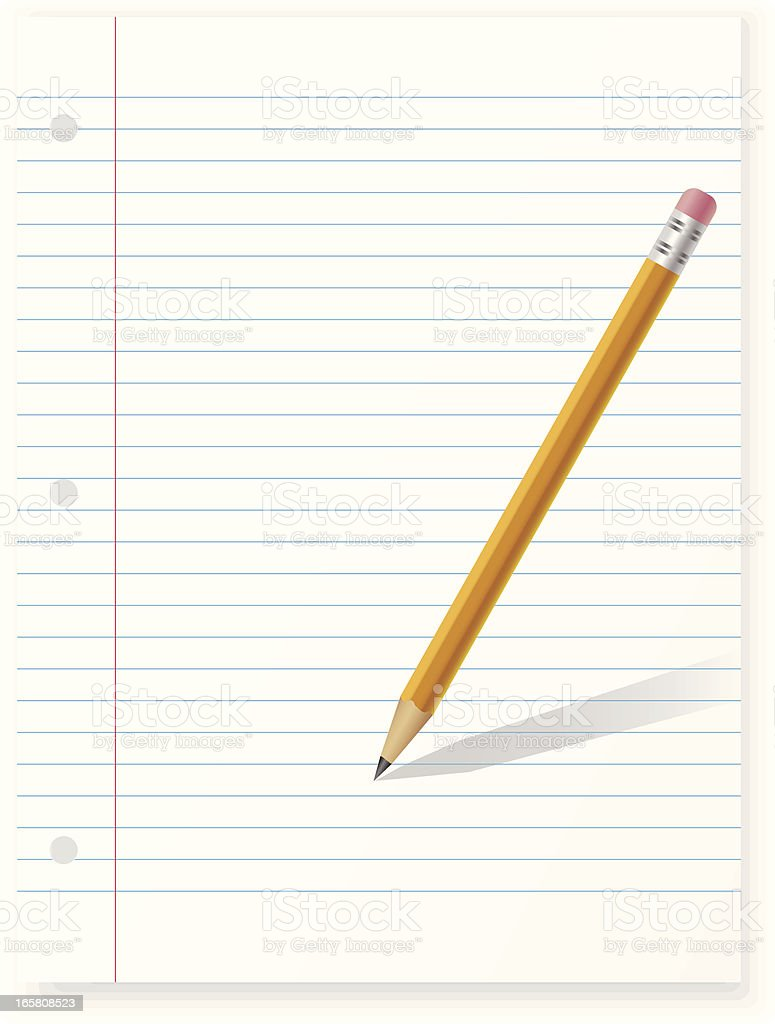 Paper With Pencil royalty-free stock vector art