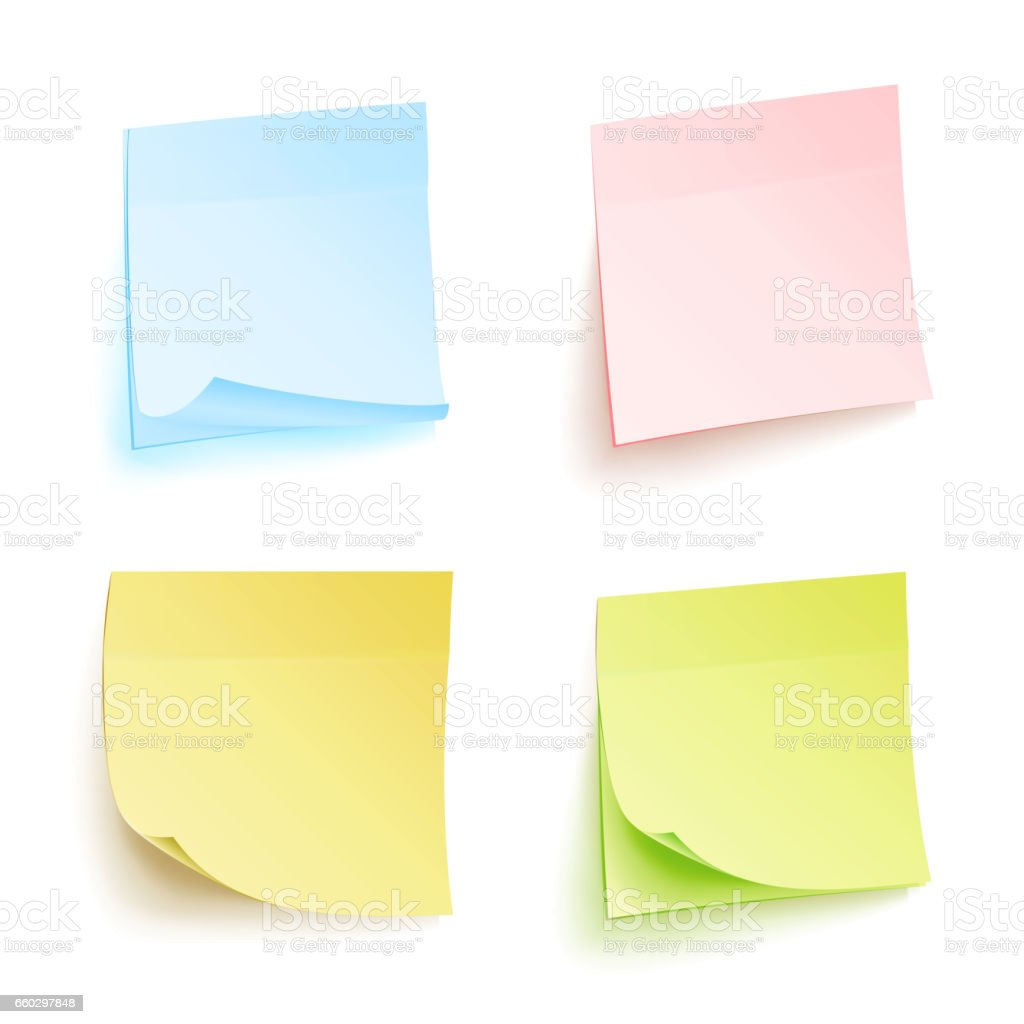 Free vector graphic sticky note note info paper free image on - Paper Work Notes Isolated Vector Set Sticky Note Paper For Noticeboard With Curled Corners Illustration