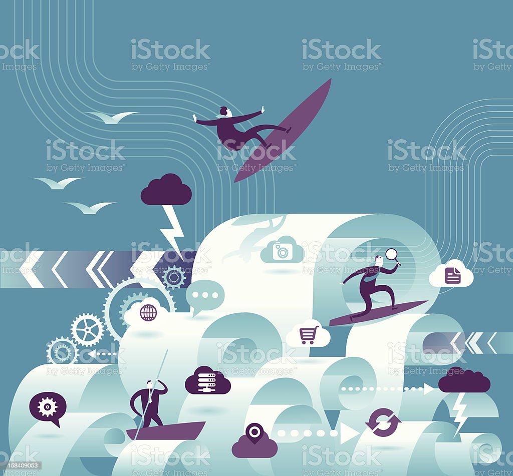 Paper work vector art illustration