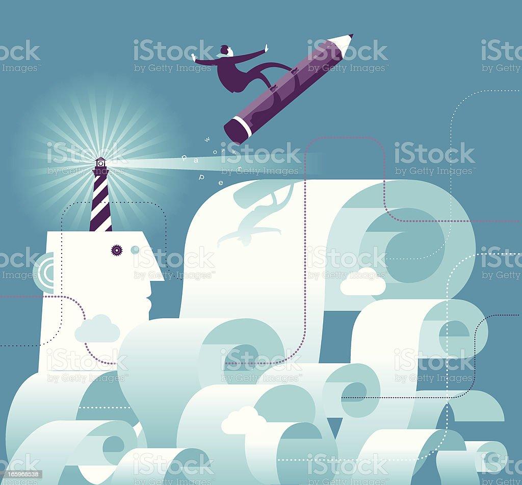 Paper work royalty-free stock vector art
