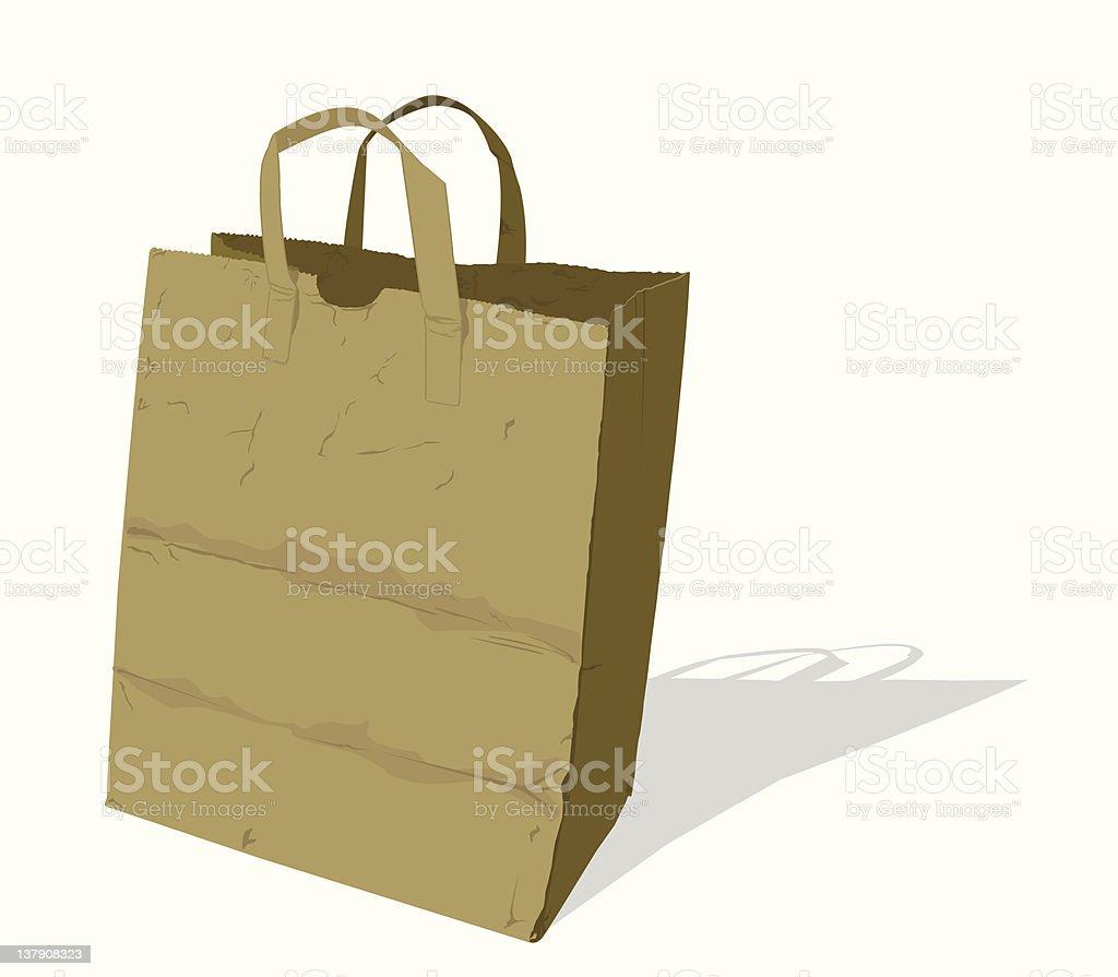 Paper_Brown_Bag royalty-free stock vector art