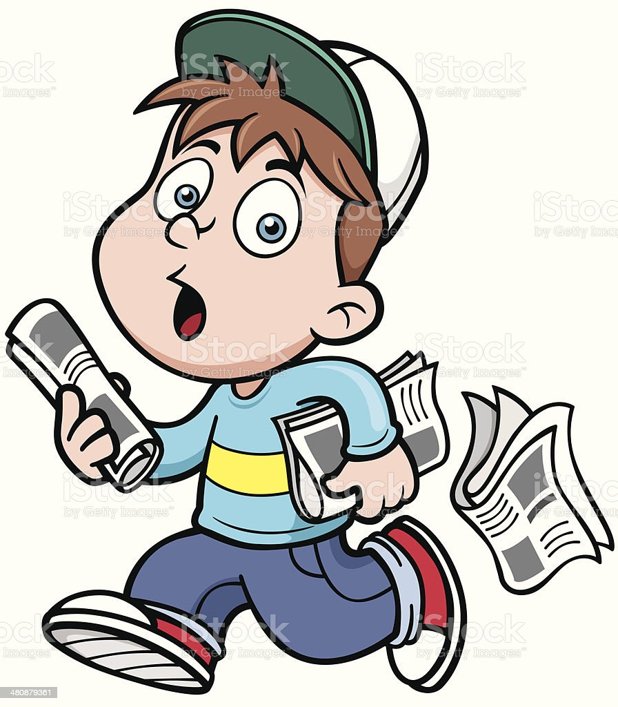 Paperboy royalty-free stock vector art