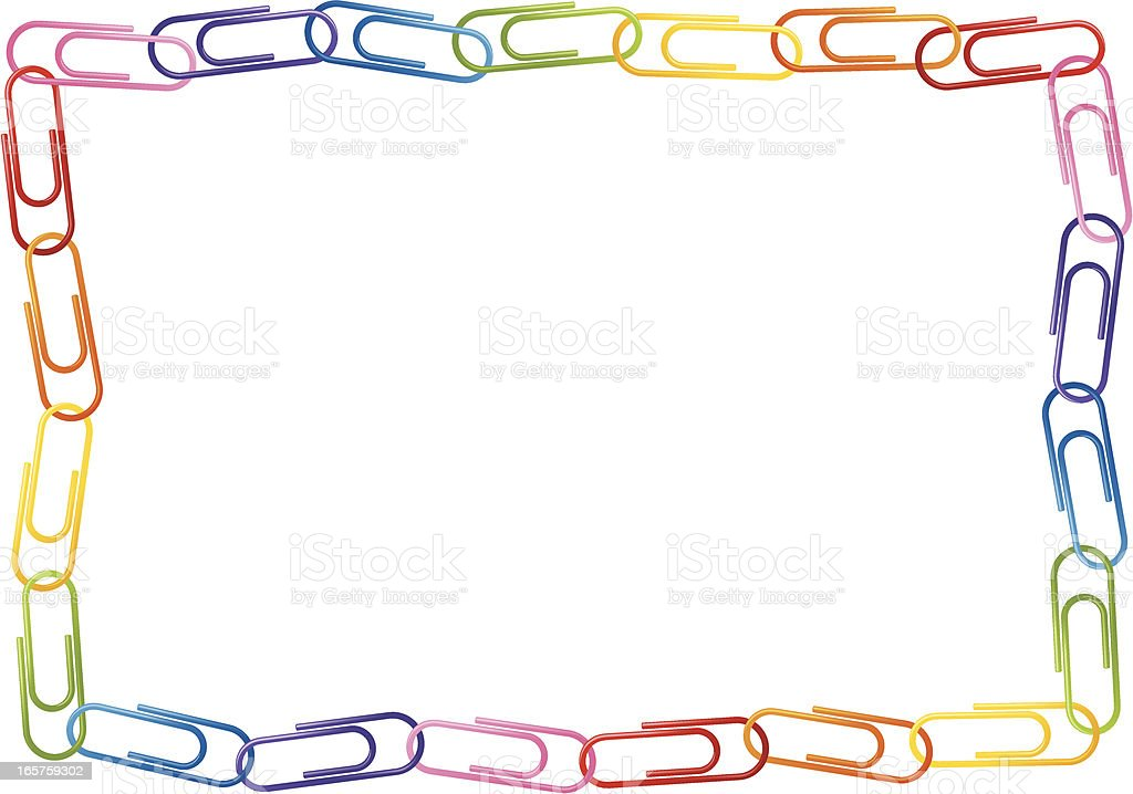Paperclip Border royalty-free stock vector art
