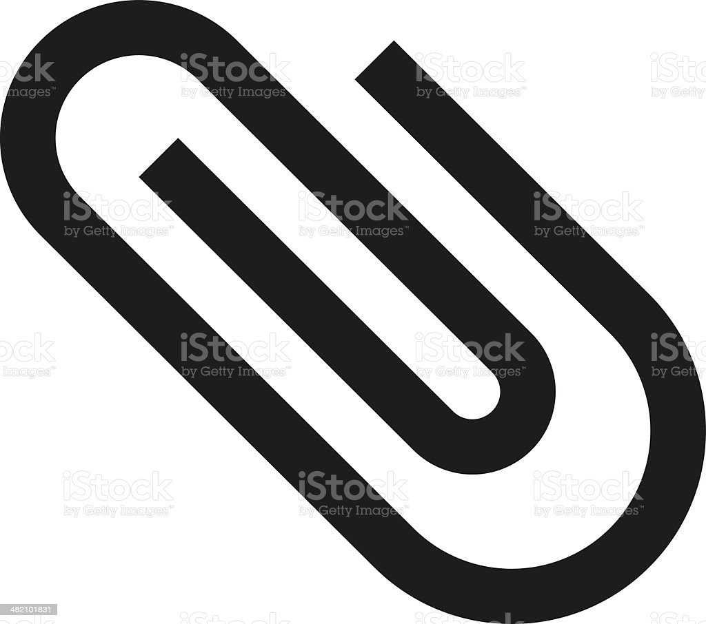 Paperclip icon royalty-free stock vector art