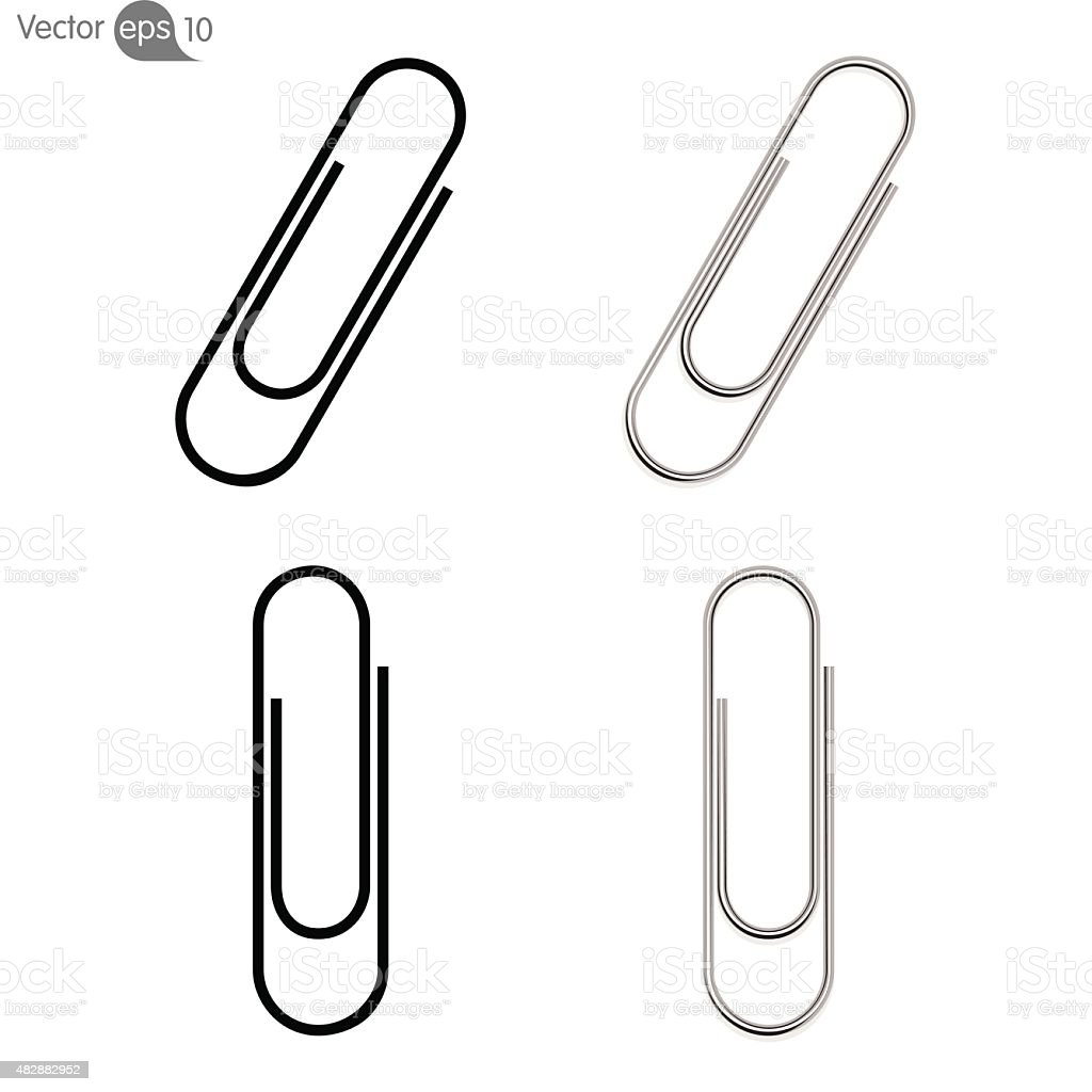 paperclip icon vector vector art illustration