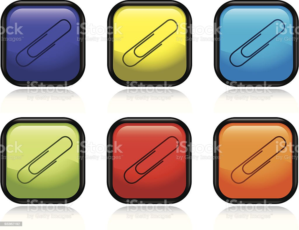 Paperclip royalty-free stock vector art
