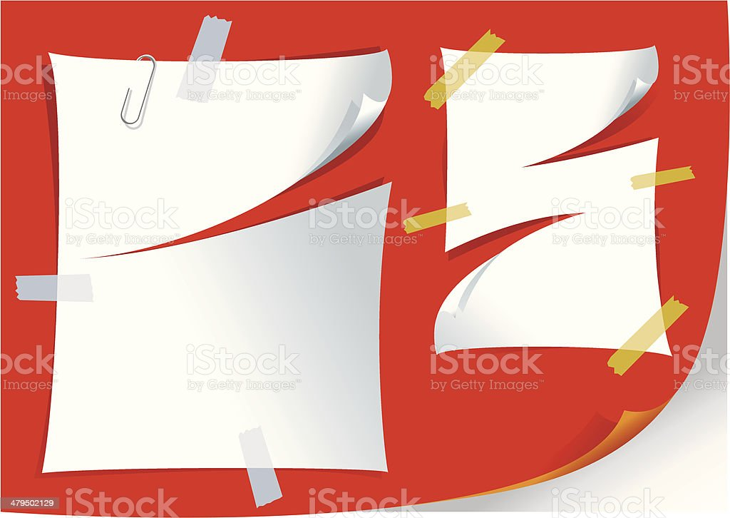 Papercut royalty-free stock vector art