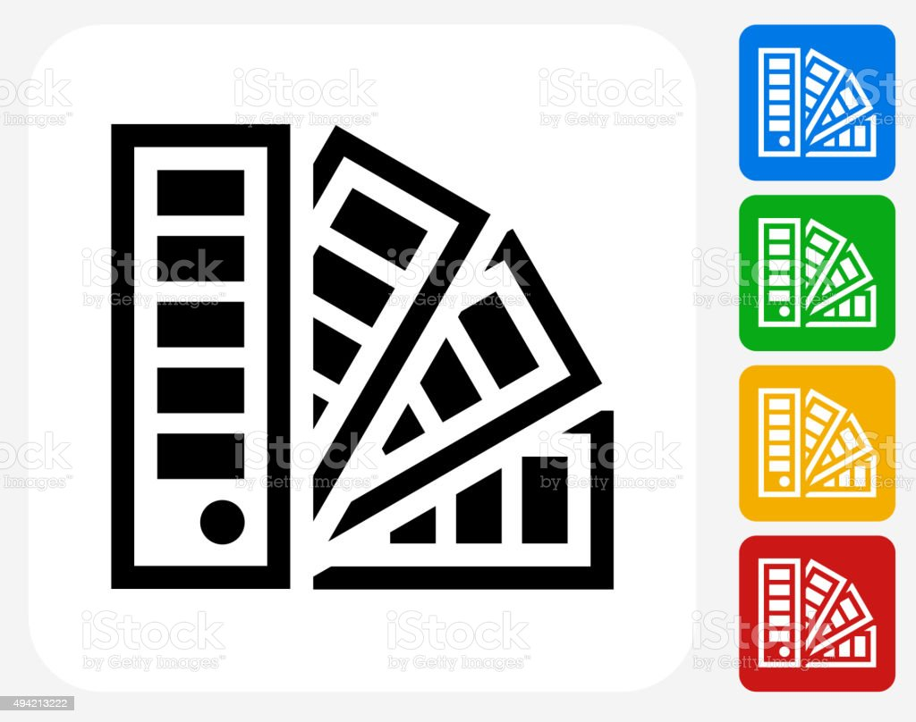 Papers Icon Flat Graphic Design vector art illustration