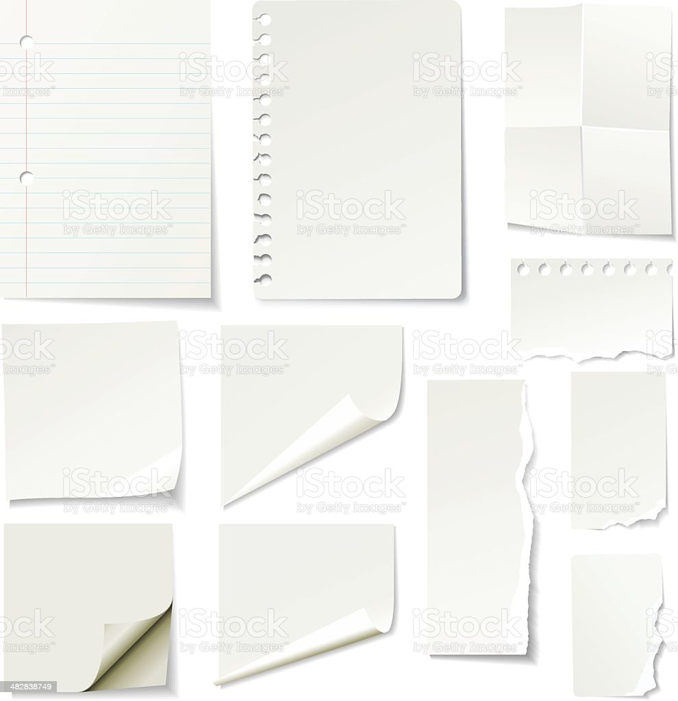 Papers vector art illustration