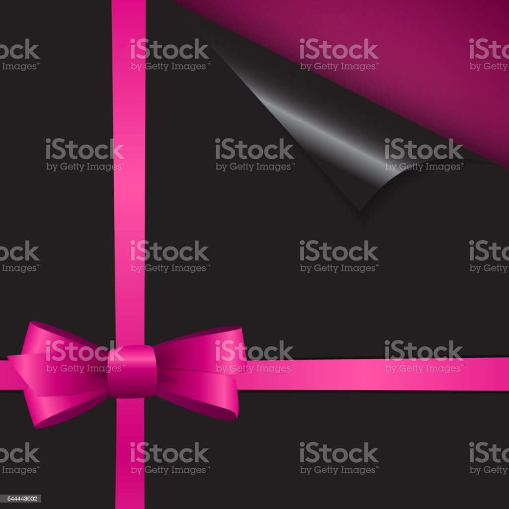 Papers with Different Corner, Bow, Ribbon and Place for Your vector art illustration