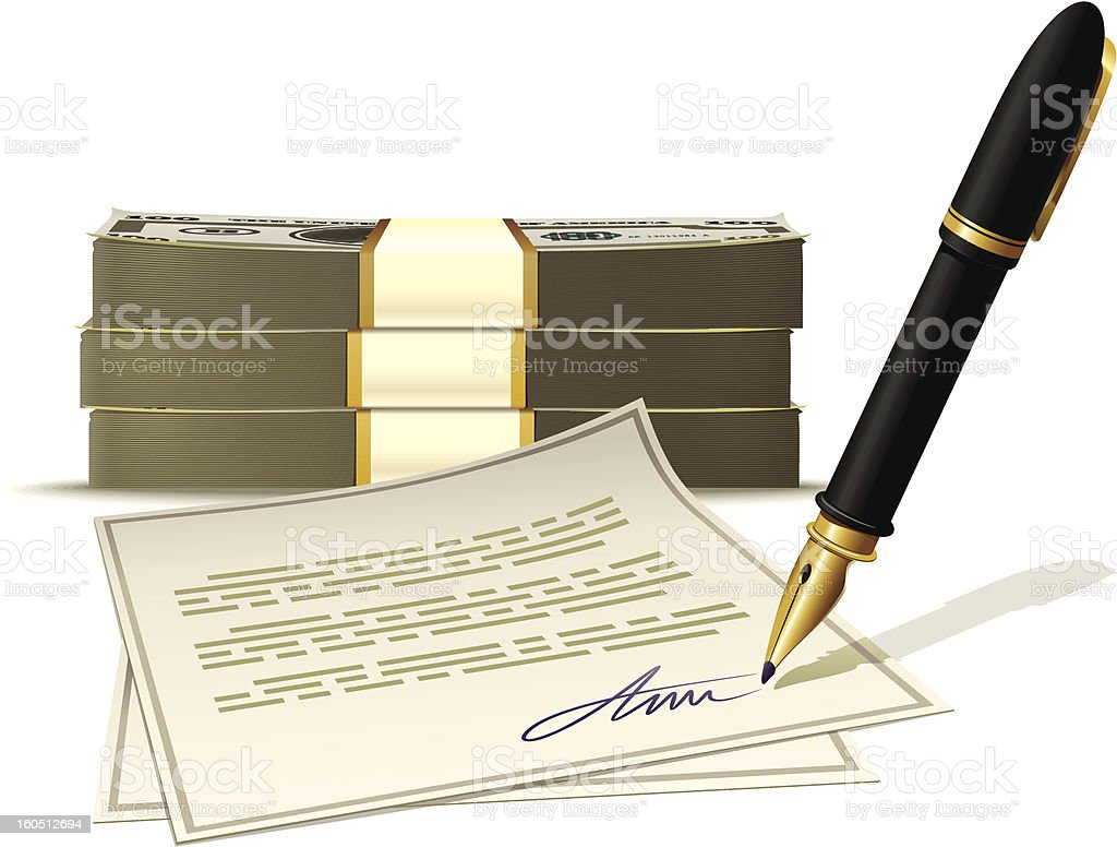 Paperwork for cash money royalty-free stock vector art