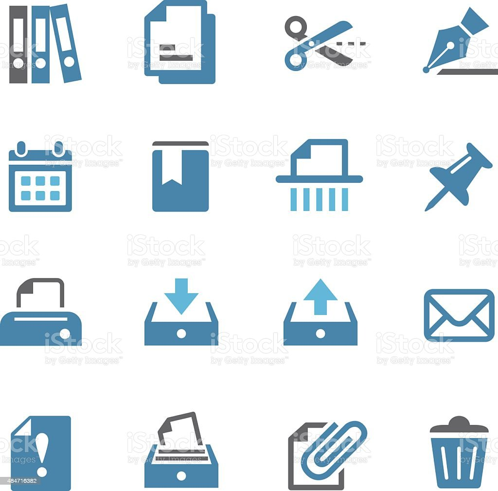 Paperwork Icons - Conc Series vector art illustration
