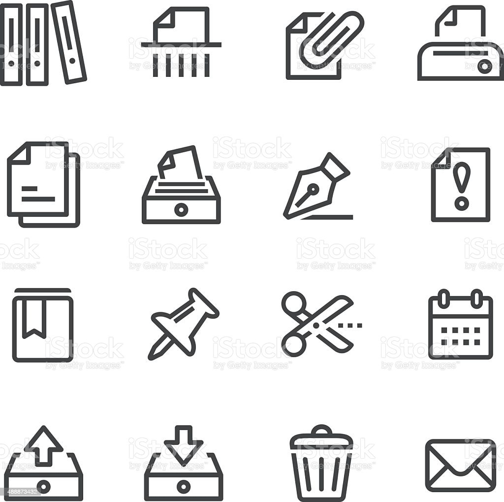Paperwork Icons - Line Series vector art illustration