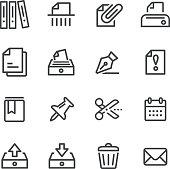Paperwork Icons - Line Series