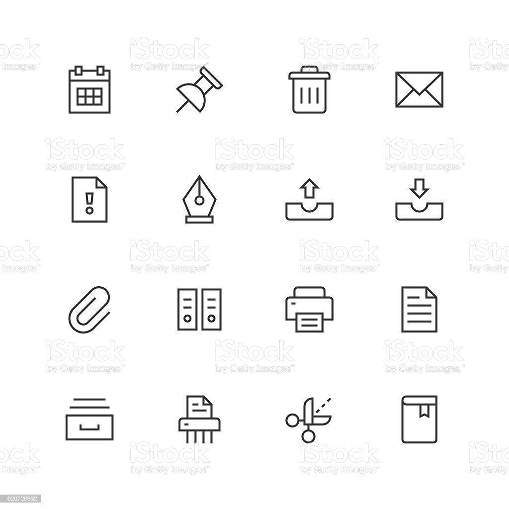Paperwork Icons - Unique  - Line Series vector art illustration