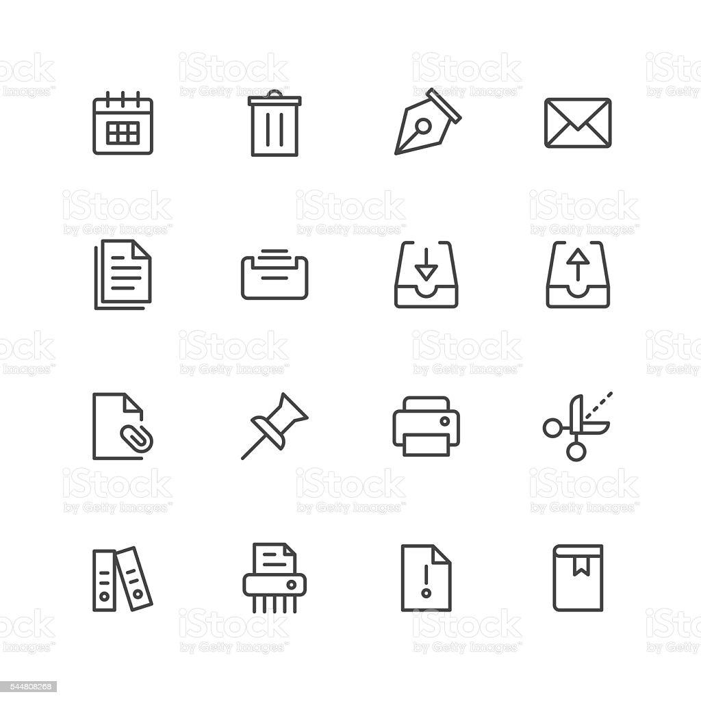 Paperwork icons vector art illustration