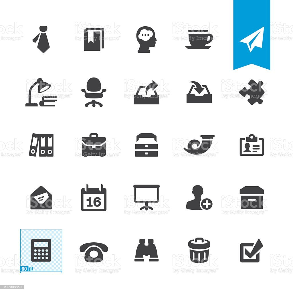 Paperwork & Office vector sign and icon vector art illustration