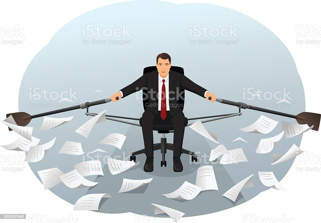 Paperwork vector art illustration