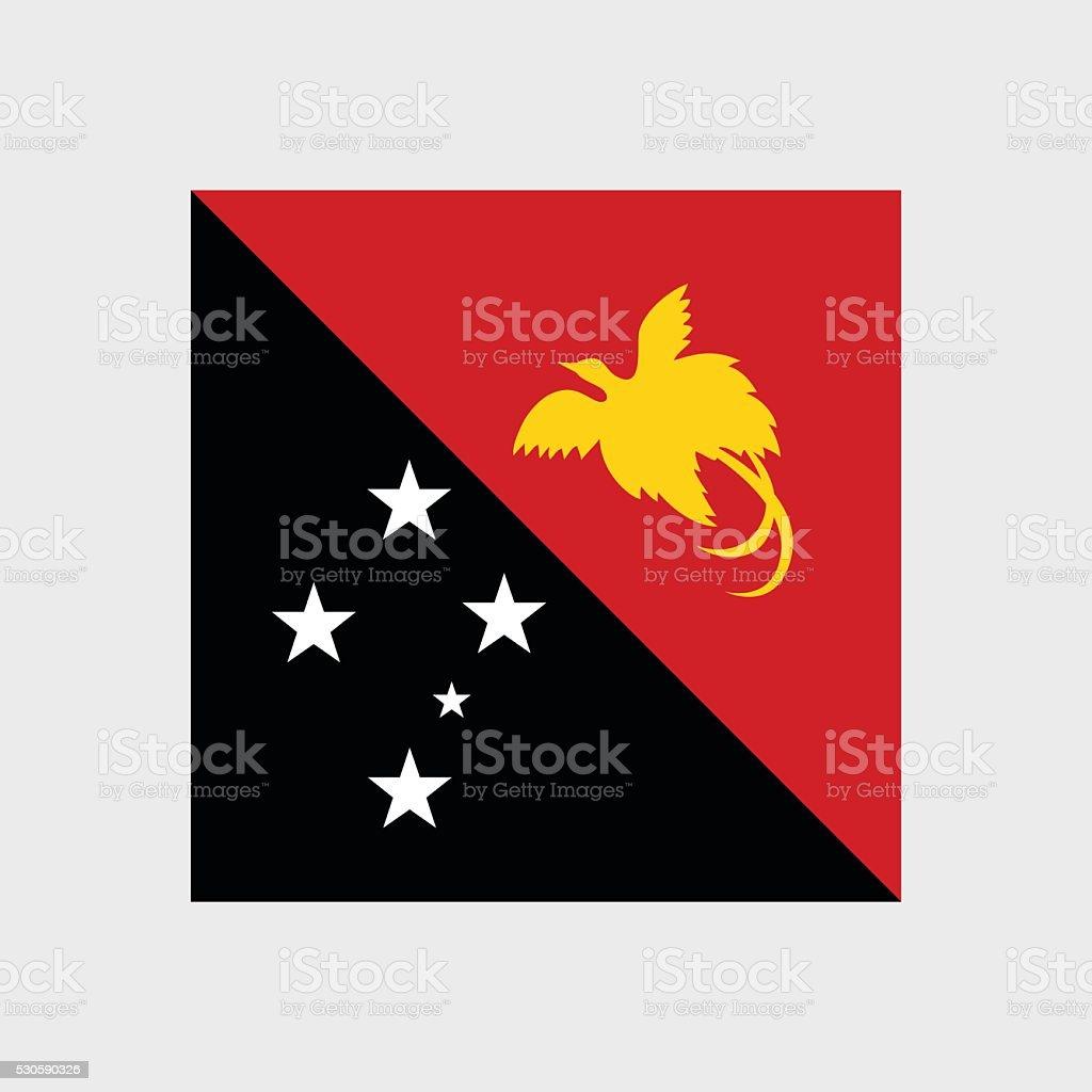 Papua New Guinea flag vector art illustration