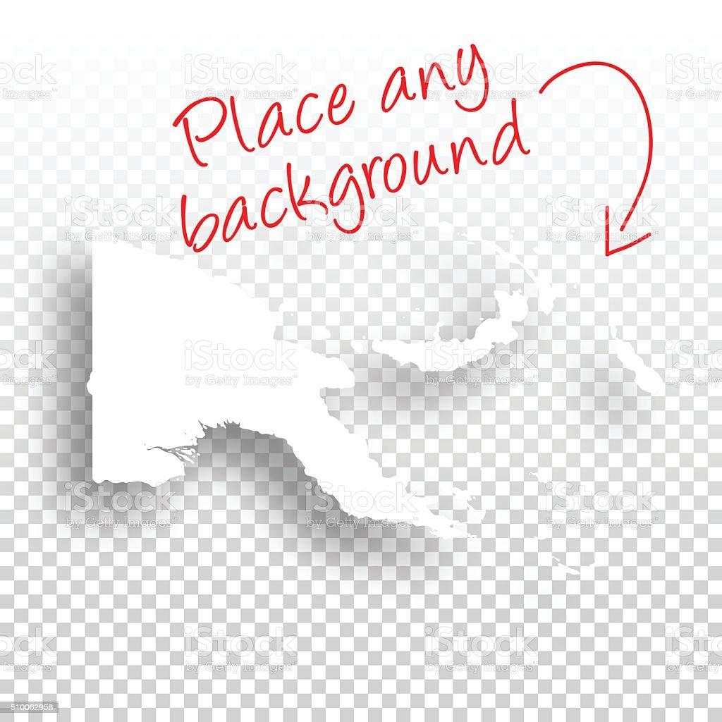 Papua New Guinea Map for design - Blank Background vector art illustration