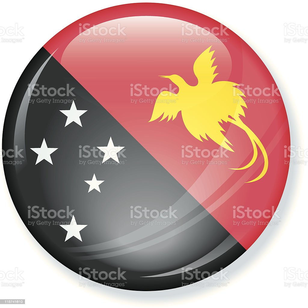 Papua New Guinea Super Glossy Flag royalty-free stock vector art