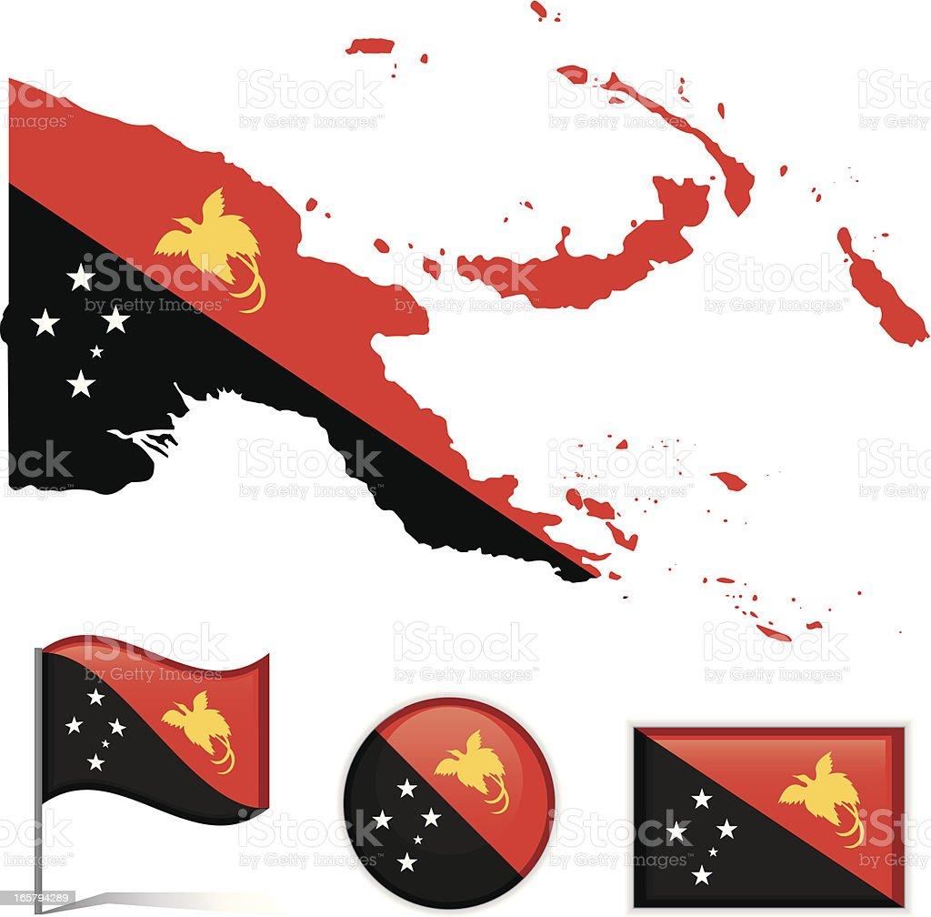 Papua New Guinea royalty-free stock vector art