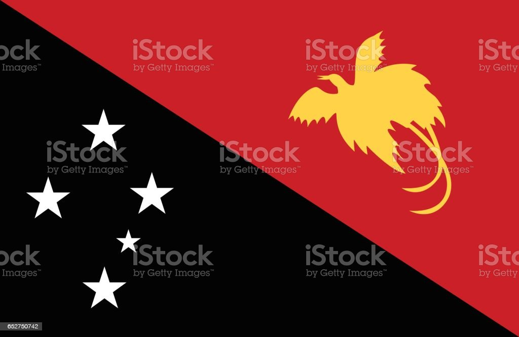 Papua New Guinea vector art illustration