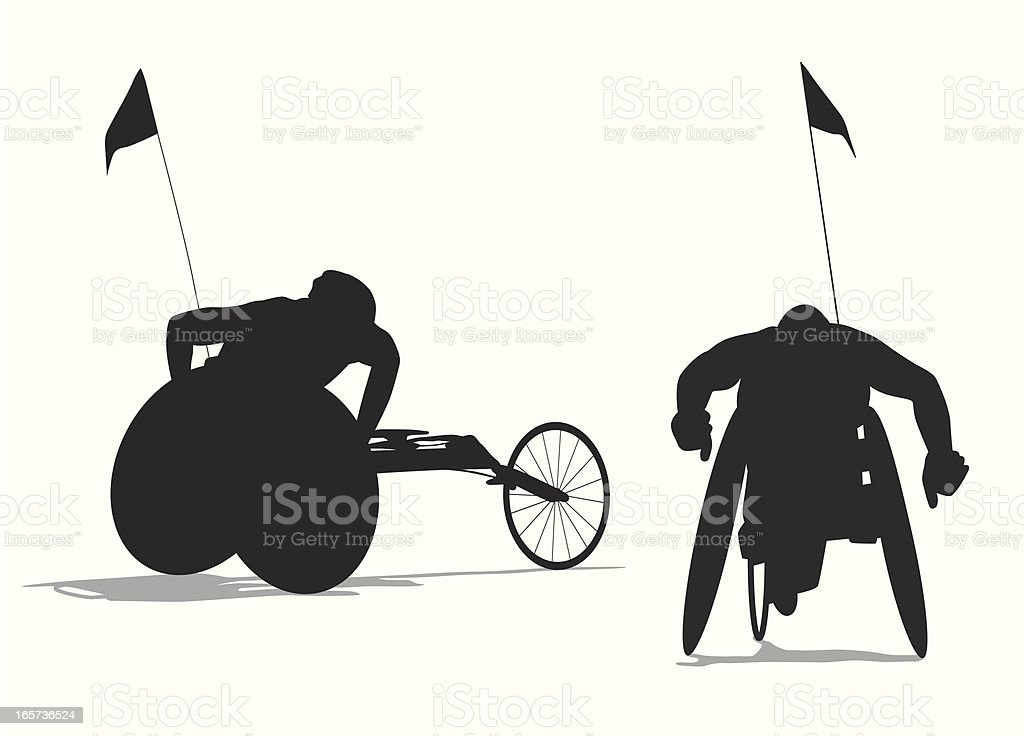 Para Cycling Vector Silhouette royalty-free stock vector art
