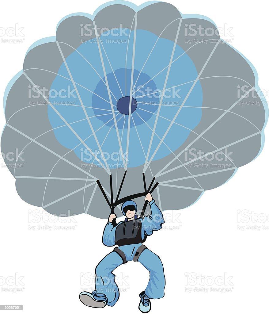 Parachute opened royalty-free stock vector art