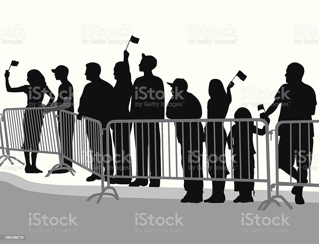Parade Crowd Vector Silhouette royalty-free stock vector art