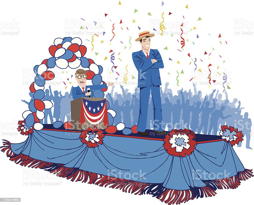 Parade Float C vector art illustration