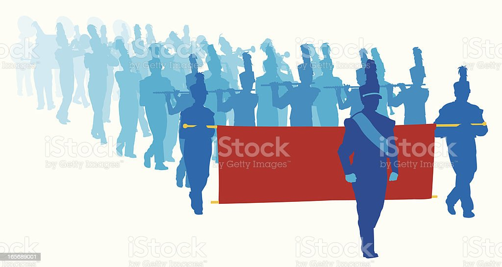 Parade Marching Band Musicians royalty-free stock vector art