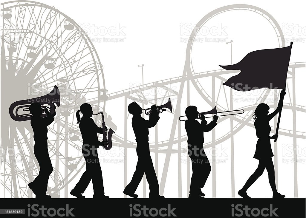 Parade vector art illustration