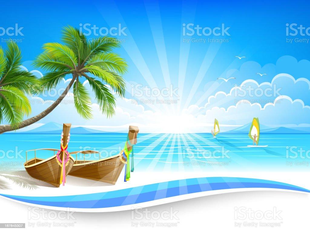 Paradise island royalty-free stock vector art