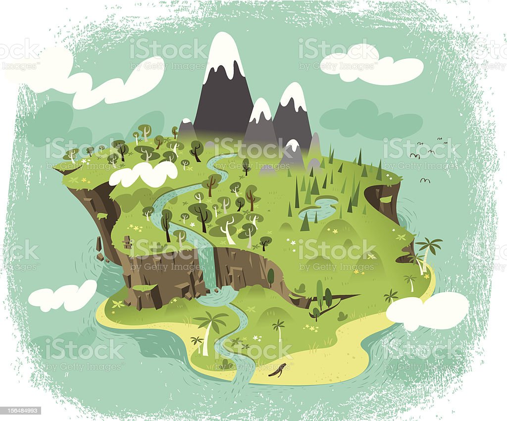 Paradise vector art illustration