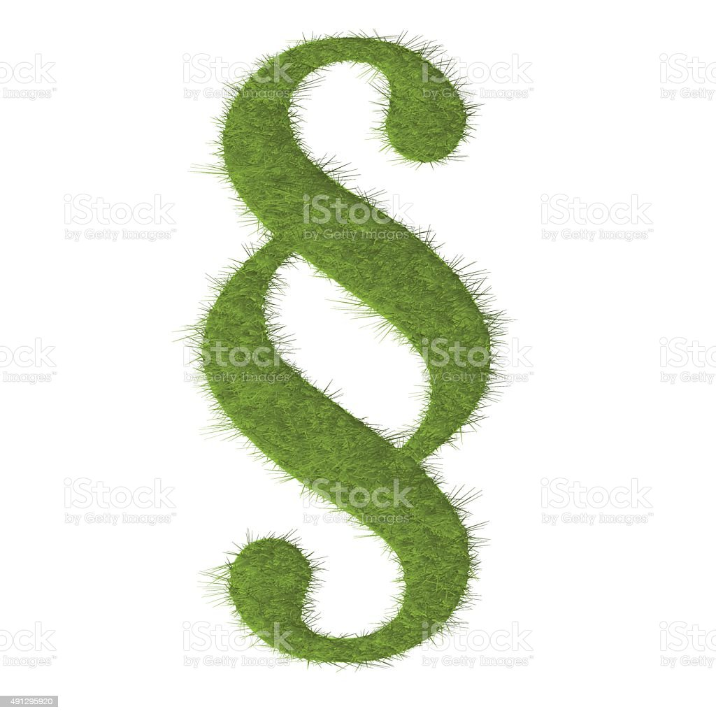 Paragraph green lawn vector on white background. vector art illustration