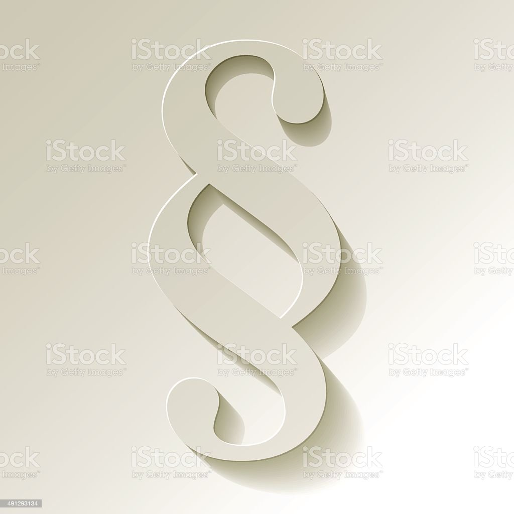 Paragraph white symbol paper on white background. vector art illustration