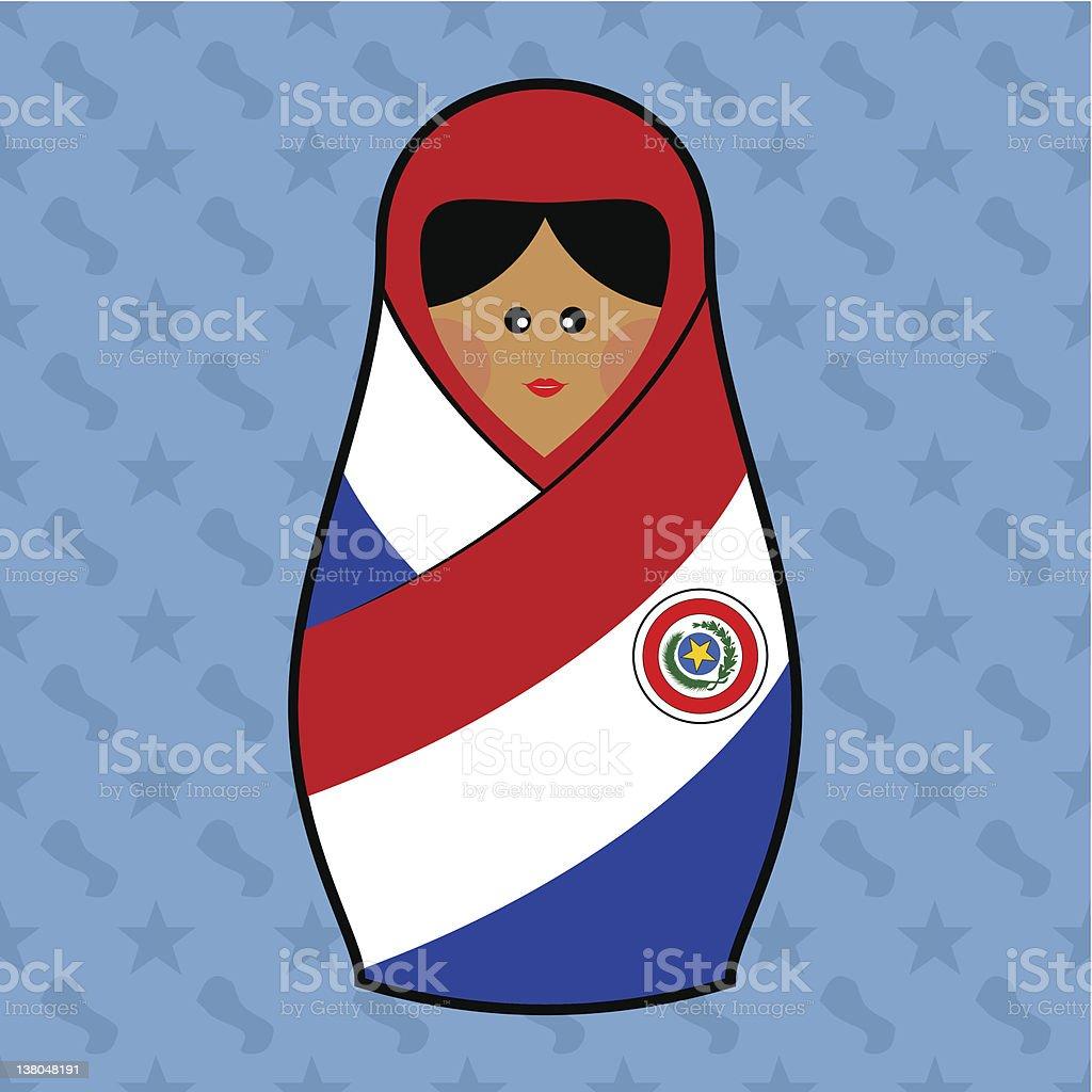 Paraguay - Matryoshka doll royalty-free stock vector art